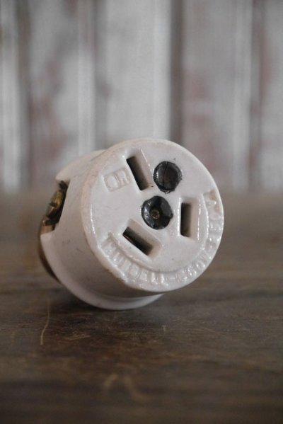 画像2: アンティーク HUBBELL ライティングソケットアウトレットアダプター 25