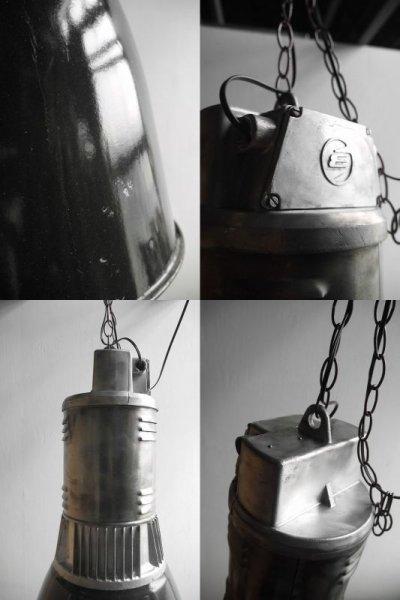 画像2: アンティーク Czechoslovakia製 インダストリアル 吊り下げランプ  B