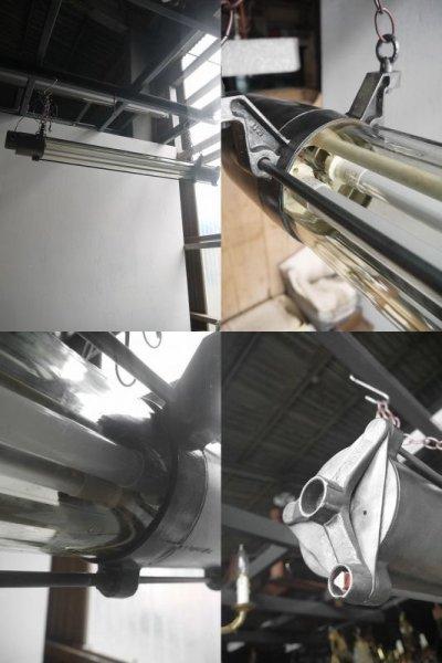 画像2: アンティーク インダストリアル 2灯 チューブランプ B