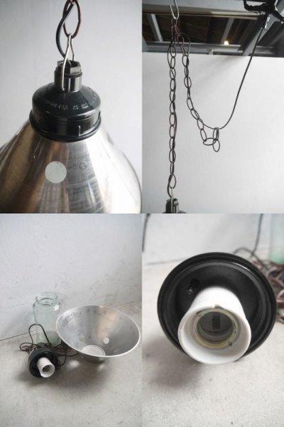画像3: アンティーク インダストリアル クリアガラス吊り下げランプ A