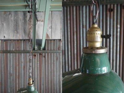 画像3: アンティーク ホーロー吊り下げランプ 463
