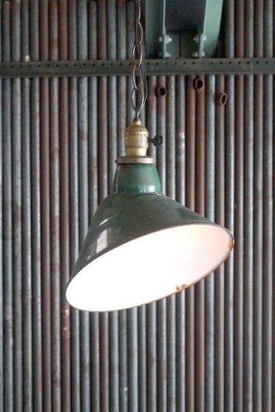 画像1: アンティーク ホーロー吊り下げランプ 463 (1)