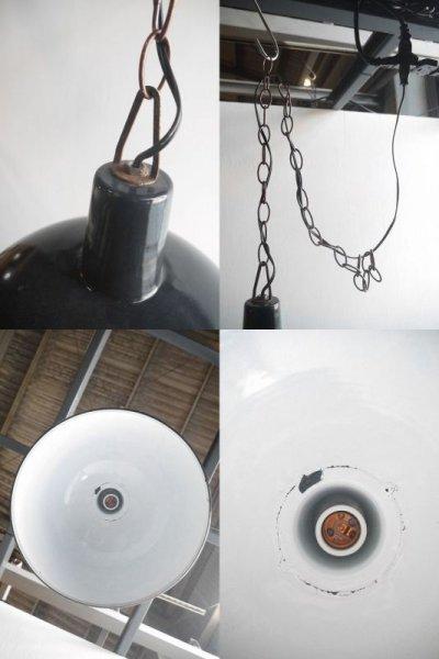 画像3: アンティーク インダストリアル ホーロー吊り下げランプ