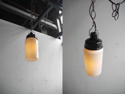 画像1: アンティーク ミルクガラス 吊り下げランプ A