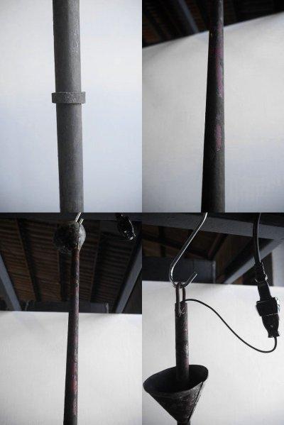 画像2: アンティーク インダストリアル 長尺ホーロー吊り下げランプ
