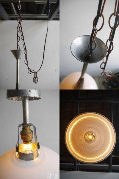 画像2: アンティーク HOLOPHANE  ミルクガラス 吊り下げランプ D