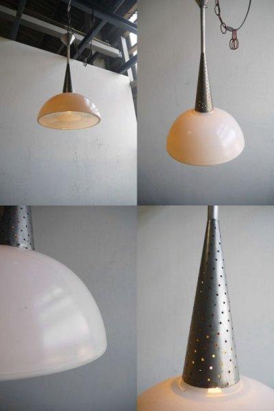 画像1: アンティーク HOLOPHANE  ミルクガラス 吊り下げランプ D