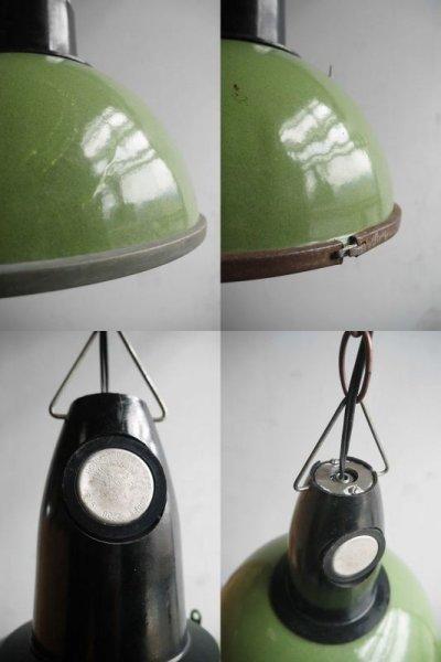 画像2: アンティーク インダストリアル ホーロー吊り下げランプ C