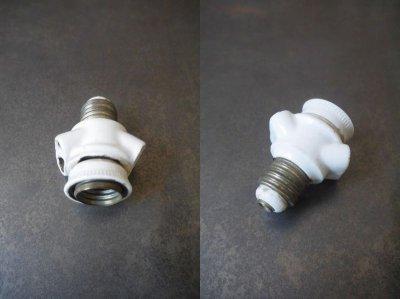 画像1: アンティーク 陶器製 ソケット